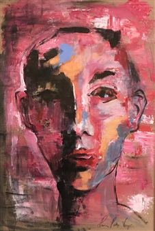 Laura Pretto Vargas - Androgynous Acrylic on Paper & Board, Paintings