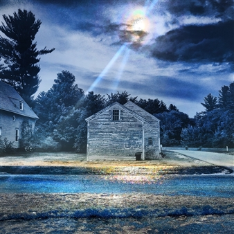markpizzaArt - Lonely House at Midnight Archival Pigment Print on Aluminum, Photography