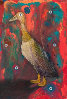 Julius L. Meyer - Duck Soup Acrylic & Oil on Canvas, Paintings
