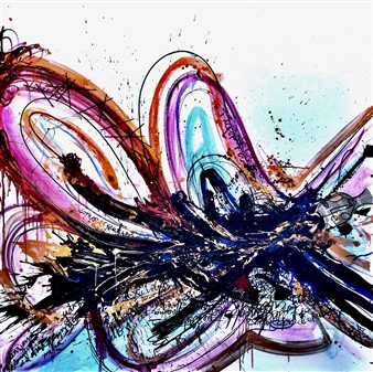 Rebeca Segura Rahme - Captivity Collage on Canvas, Mixed Media