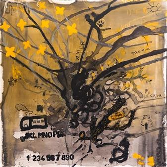 Mariela Soldano - Roots Acrylic on Canvas, Paintings