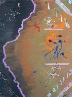 David Morrison - Das Beach Acrylic on Canvas, Paintings