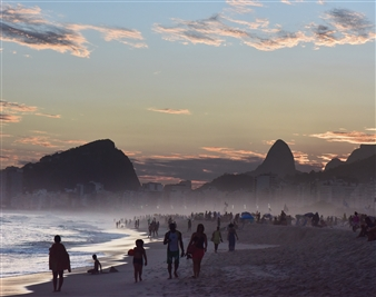 Andrea Braunfeld - Days End Copacabana Beach Archival Pigment Print, Photography