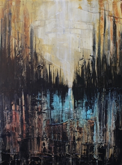 Lisa Sommers - City of Fire Acrylic on Canvas, Paintings
