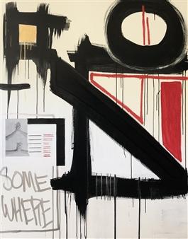 William Atkinson - I Climb Mixed Media on Canvas, Mixed Media
