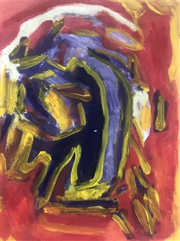 Judy Ann Filipich - Maze Oil on Paper, Paintings