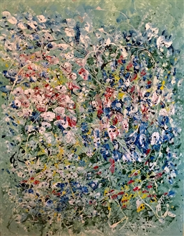 Mark Schiff - Weir Farm Lilies Acrylic on Canvas, Paintings