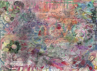 Denel-KK (Kristen Keeling) - Center Return Mixed Media on Canvas, Mixed Media