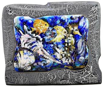 Natia Malazonia - Underwater Enamel on Panel, Paintings