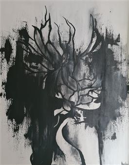 Konka - Phoenix Acrylic on Canvas, Paintings