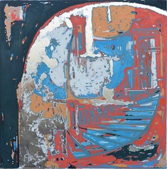 Taras Borovyk - Stairs of Lviv Oil on Canvas, Paintings