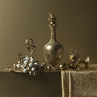 Art Golacki - Still Life in Gold with Grapes / second variation Archival Pigment Print, Photography
