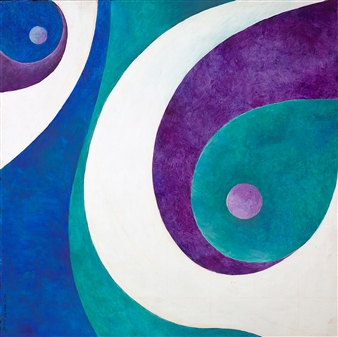 Jerry Anderson - Turkish Motif Acrylic on Canvas, Paintings