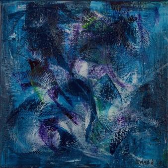 Anna K Art Katja van den Bogaert - Cozy Calm Acrylic on Linen, Paintings