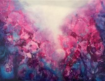 Tiffany Reid - Draconis Acrylic on Canvas, Paintings