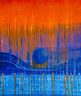 PJ Riley - CREATION THEORY: The Doors We Choose Acrylic, Oil & Ink on Canvas, Paintings