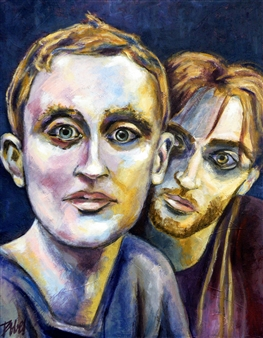 Clara de Bobes - Peter's Guys Acrylic on Canvas, Paintings