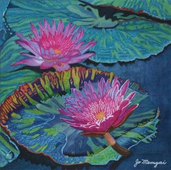 Josie Mengai - Water Lilies Digital Print on Aluminum, Prints