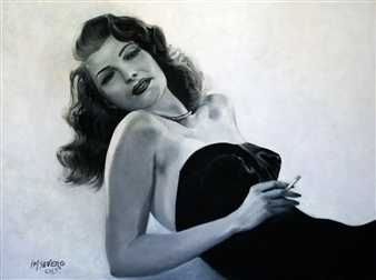 Blanca Severo - Rita Oil on Canvas, Paintings