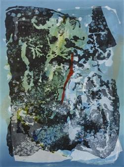Donna Broder - Volcano Under the Water #2 Monotype on Fine Art Paper, Prints