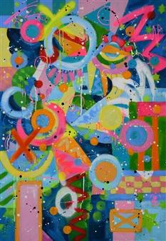 Lisa Gehres - Focus Acrylic & Spraypaint on Canvas, Paintings