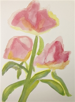 Aaron Cristofaro - Rosa 1A Watercolor on Paper, Paintings