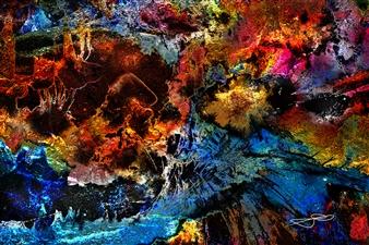 Frédérique Négrié - Turbulescence 2 Digital Painting on Aluminum, Digital Art