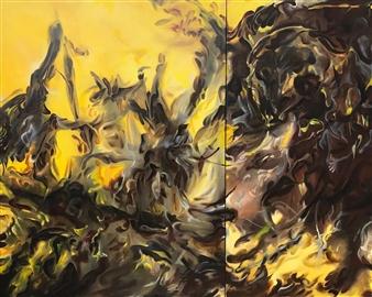 Tringa Khadija - Exaltation Oil on Canvas, Paintings