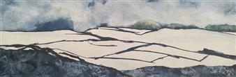 D. L. Brabander - Winter Landscape Watercolor on Canvas, Paintings