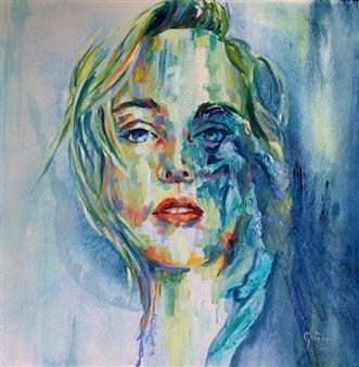 Grady Zeeman - Soul Searching Oil on Canvas, Paintings