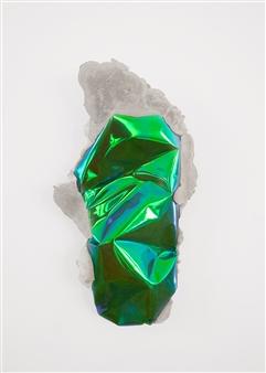 Mateusz von Motz - Prima Materia Energy Stone, Green III Mixed Media, Sculpture
