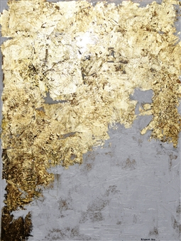 "Bulsby ""Buzz"" Duncan - Gem Acrylic & Gold Leaf on Canvas, Mixed Media"