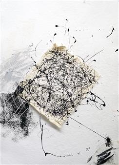 Merritt Spangler - Endings No. 17 Acrylic on Paper, Paintings