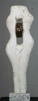 Venceslao Mascia - Surrogato II Marble and Copper, Sculpture