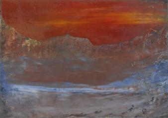 François-Jérôme Bringuier - Glowing Tribulations Oil on Paper, Paintings