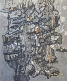 Soilart Jo-DoJoong - Knar 3 Soil on Canvas, Paintings