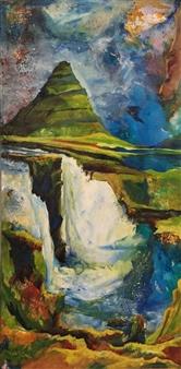 D. L. Brabander - New Destinations I Acrylic & Mixed Media on Canvas, Mixed Media