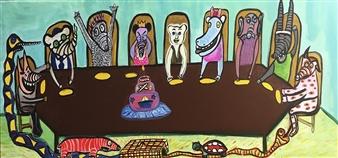 Paula Sayago Lundin - Anniversary Dust Acrylic on Canvas, Paintings