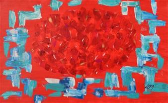 Carlos E. Porras M. - Petales Acrylic on Canvas, Paintings