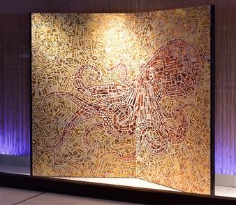 Yoshiki Uchida - Octopus / Kyoto Folding Screen Mixed Media, Mixed Media
