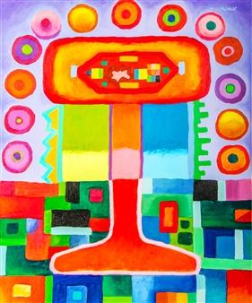 J.H. Rebelato - E 201 Oil on Canvas, Paintings