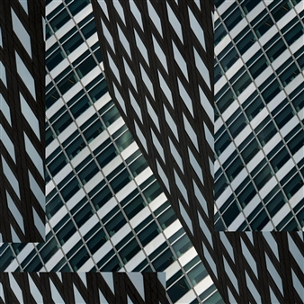 Ana Leal - Ny Buildinds Photo Montage on Textured Fine Art Paper, Photography