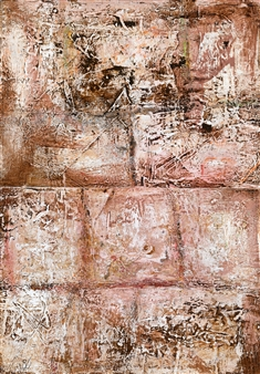 John Kingerlee - Grid from Meknes Period Oil on Paper, Paintings
