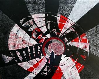 Dar Wolfe - Evolution Acrylic on Canvas, Paintings