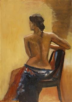 Raúl Mariaca Dalence - Modèle A Oil on Canvas, Paintings
