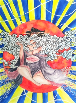 Xiao daCunha - Goddess in the Sun Watercolor on Paper, Paintings