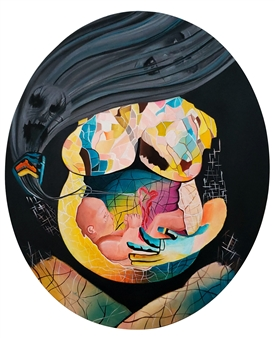 Poonam Verma - Creator of Fate Acrylic on Canvas, Paintings