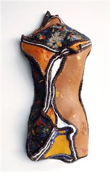 Heesu Choi - Outsider-B Acrylic on Sewing Jute, Sculpture