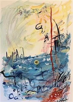 Milana Alaro - Collision Gouache on Paper, Paintings