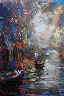 Andrey Figol - Romantic Venice Oil on Canvas, Paintings